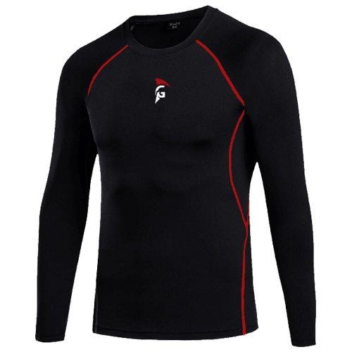 Gladiator Sports Compressie Shirt Lange Mouwen - Heren (Zwart)