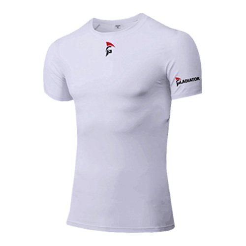 Gladiator Sports Compressie Shirt Korte Mouwen - Heren (Wit)