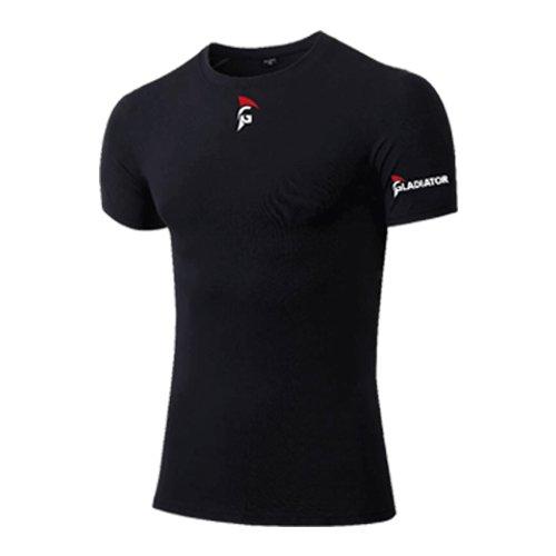 Gladiator Sports Compressie Shirt Korte Mouwen - Heren (Zwart)