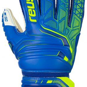 Reusch Attrakt SG Finger Support Junior Deep Blue